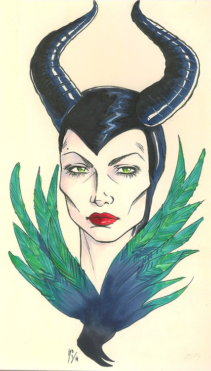 Maleficent - 2014 Copic markers - dandansama | ello
