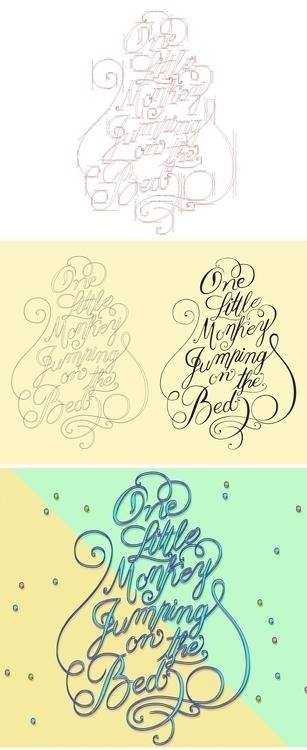 monkey calligraphy process - kids - erikdgmx | ello
