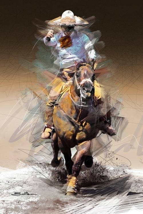 Victory hand - charros, horsesinaction - emilioartist | ello