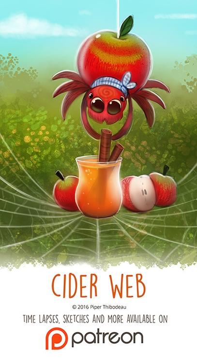 Day 1412. Cider Web - piperthibodeau | ello