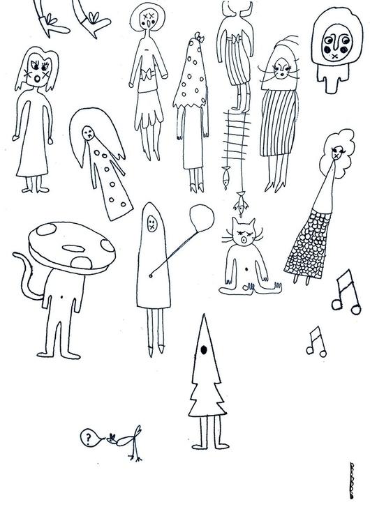 Les copains - friends - illustration - floriane-9695 | ello