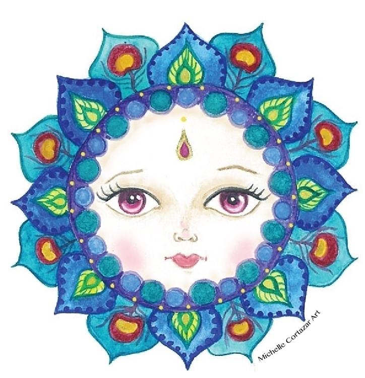 Mandala Girl watercolor digital - michellecortazar10 | ello