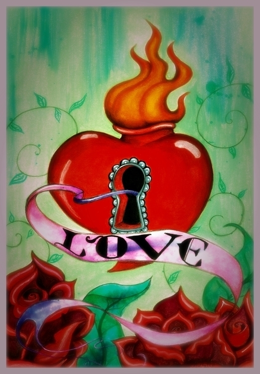 Love acrylic - illustration, painting - michellecortazar10 | ello