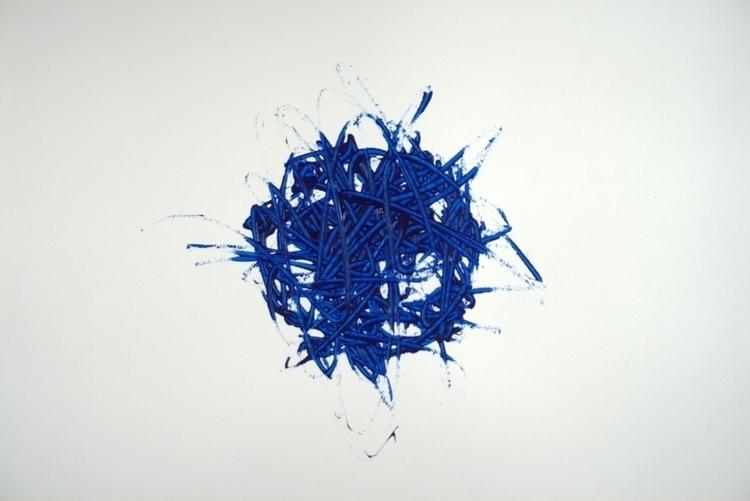 Sphere Acrylic paper - acrylic, blue - lydiacanizares | ello