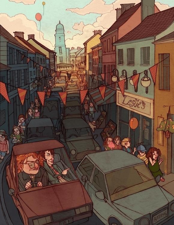 Ernestine Kit - crowd, cars, carnival - brennathummler | ello