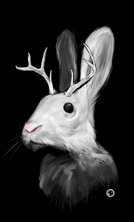 Jackalope --Digital Illustratio - adamdunt | ello