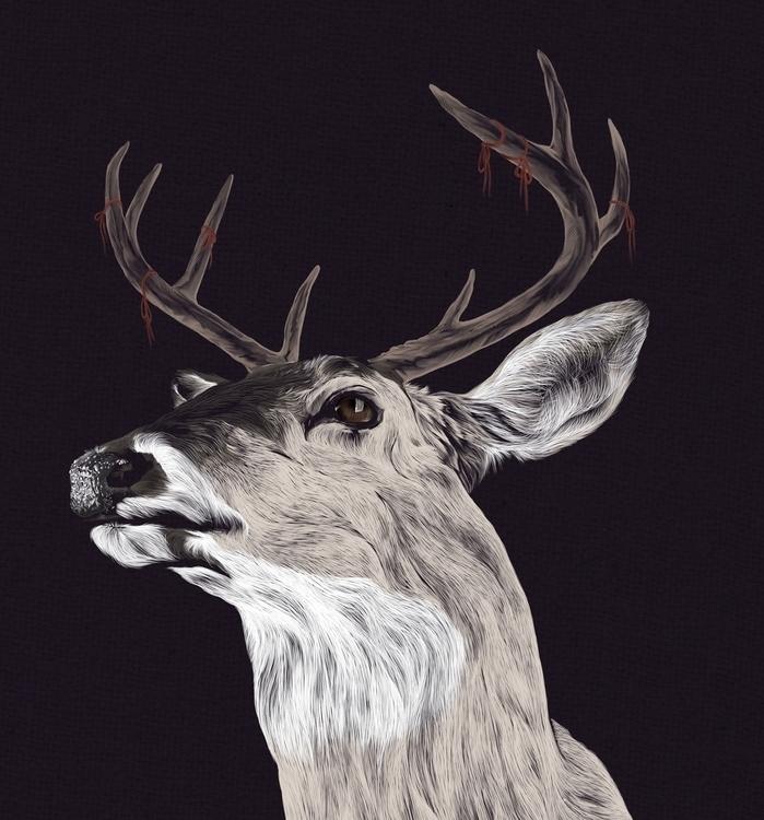 Remin'deer --Digital Illustrati - adamdunt | ello