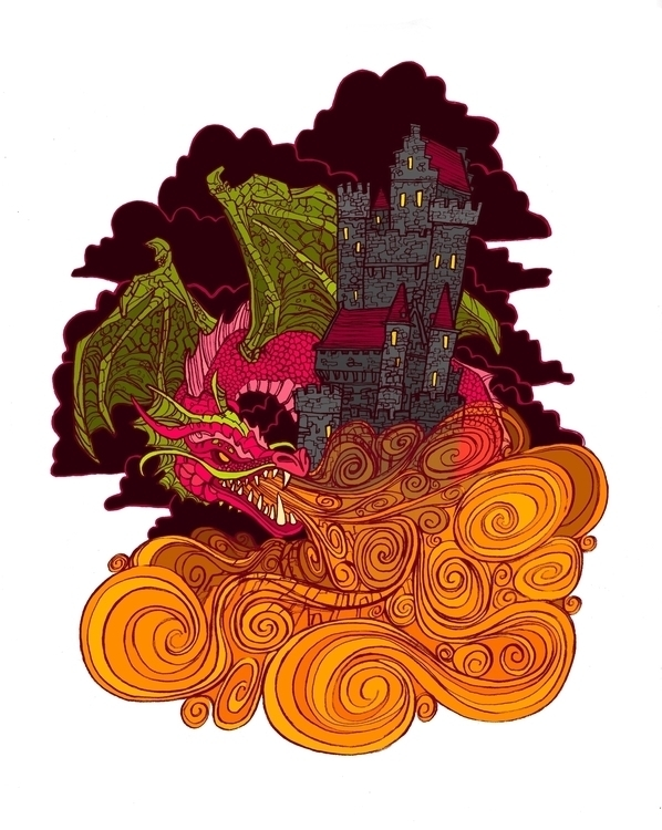 Fired - dragon, dragonfruit, fire - brennathummler | ello