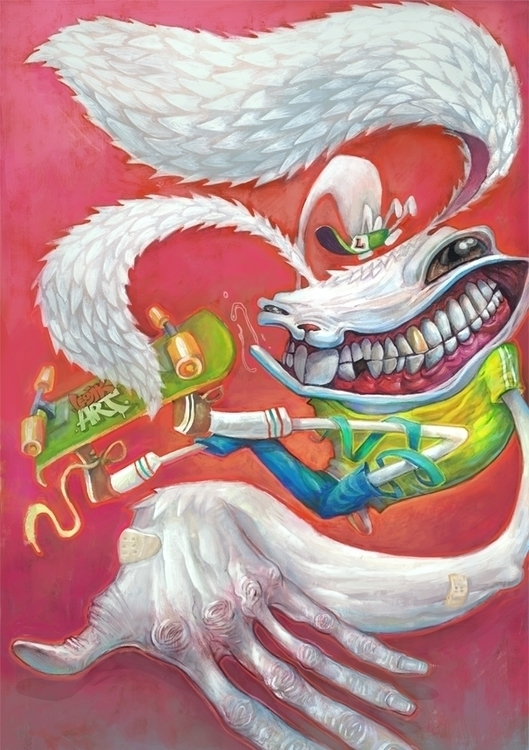 Rabbit - illustration, painting - legik | ello