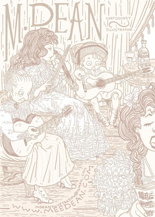 illustration, edwardian, music - meedean   ello