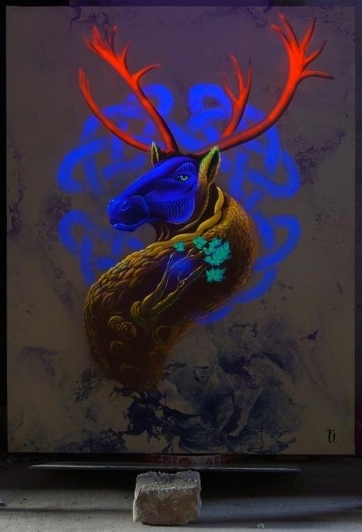 blacklight [UV] 100x80 Canvas  - jahone | ello