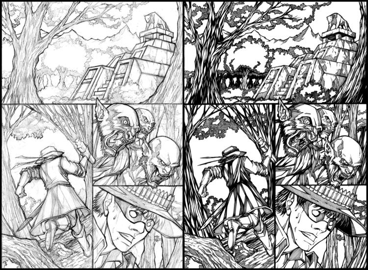 comics, ink, commission - lr_visualart   ello