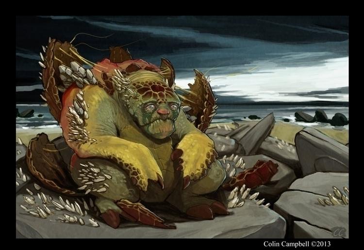 Mock Turtle - illustration - ccampbellart | ello