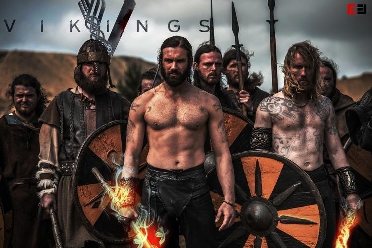 Vikings Poster - #keyart, #vikings - ericmadiadia | ello