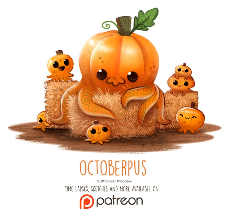 Day 1414. Octoberpus - piperthibodeau | ello