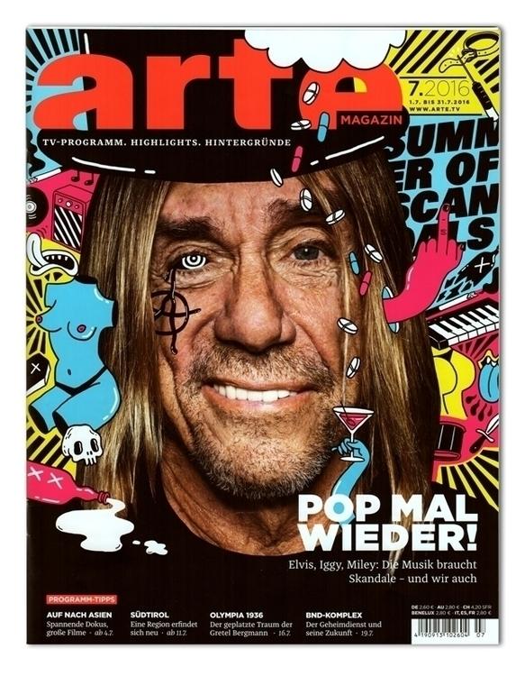 Cover illustration Arte Magazin - sarahmatuszewski   ello