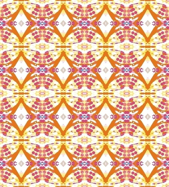 Colorful Pattern Textile Design - deannclaudette | ello