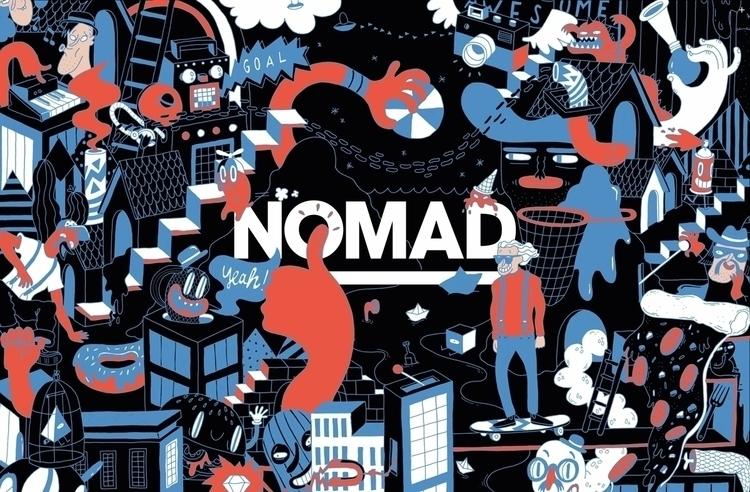 Illustration NOMAD SOCIETY - doodle - sarahmatuszewski | ello