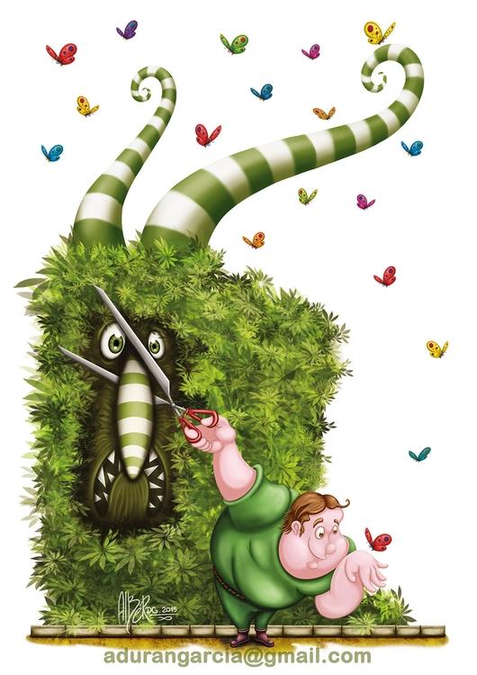 Gardener - illustration, characterdesign - alberdgillustration | ello