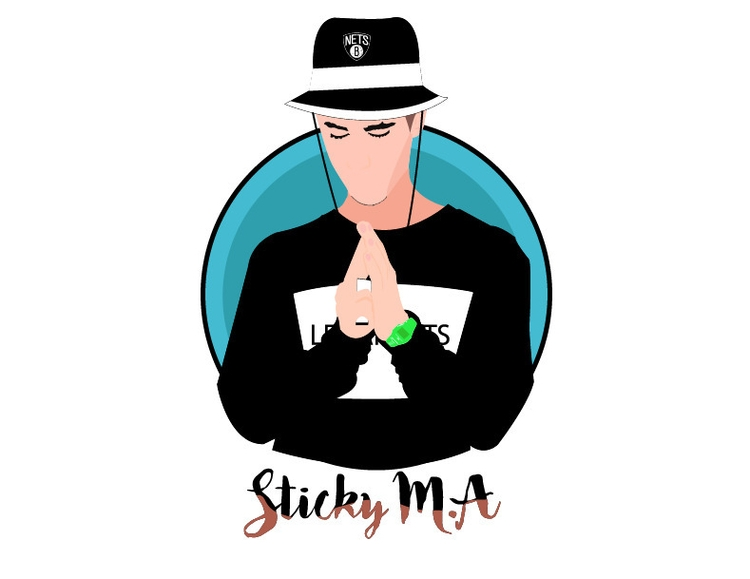 illustration, stickyma, manto - lluisadria | ello