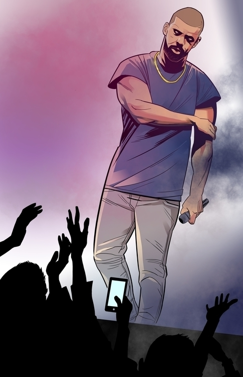 Concert_Drake - illustration, photoshop - lewisj3 | ello