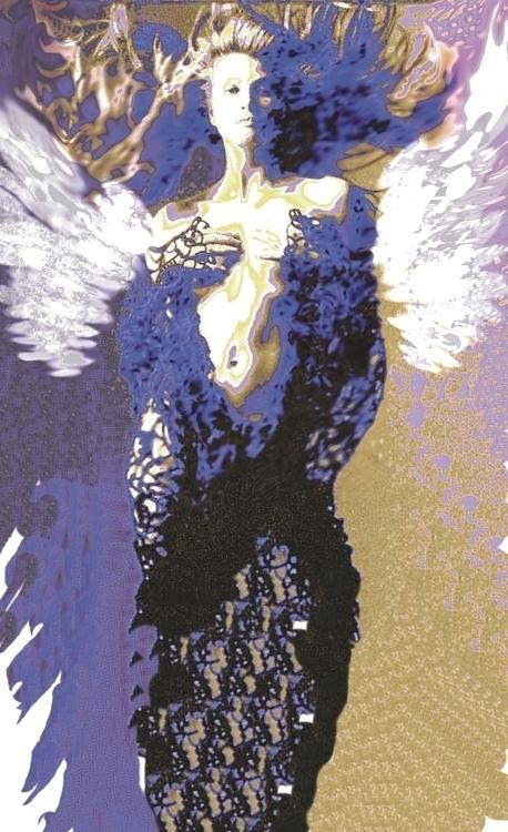 Blue Gold Angel - characterdesign - rpoling | ello