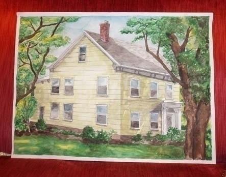 Historic NJ Farmhouse watercolo - laurencurtis | ello
