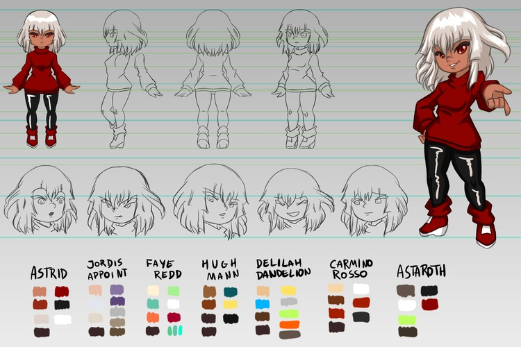Character design sheet Astrid - characterdesign - victorcavalcanti | ello