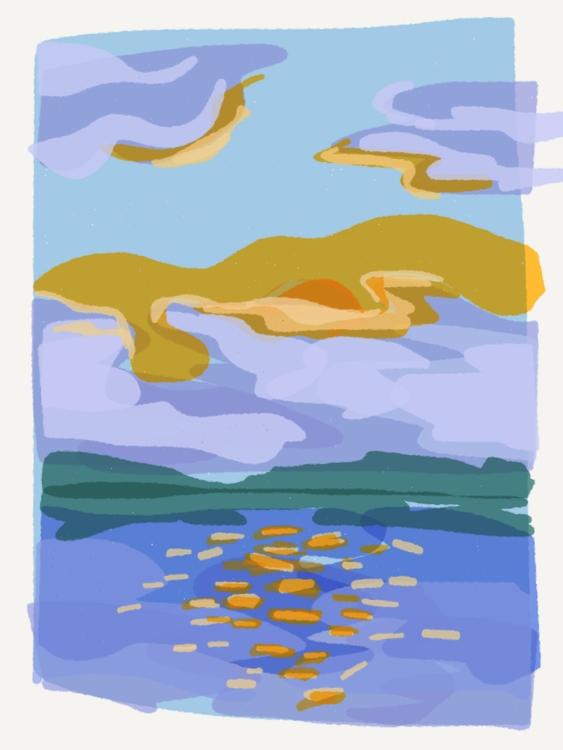 Early Morning Paddle - illustration - madelinekohm | ello