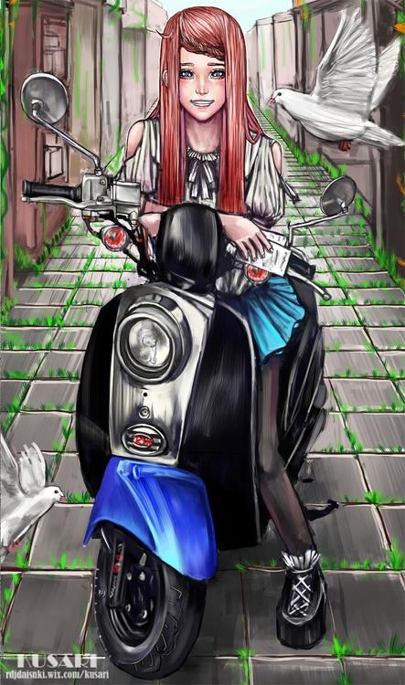illustration, painting, characterdesign - kusari | ello