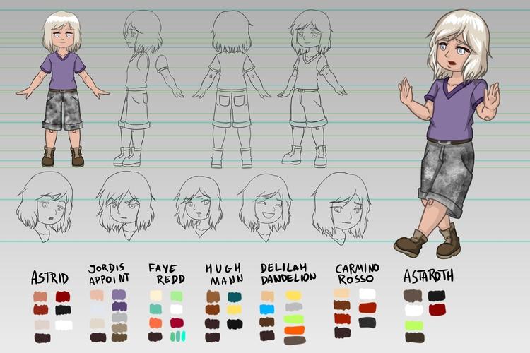 Character design sheet Jordis A - victorcavalcanti | ello