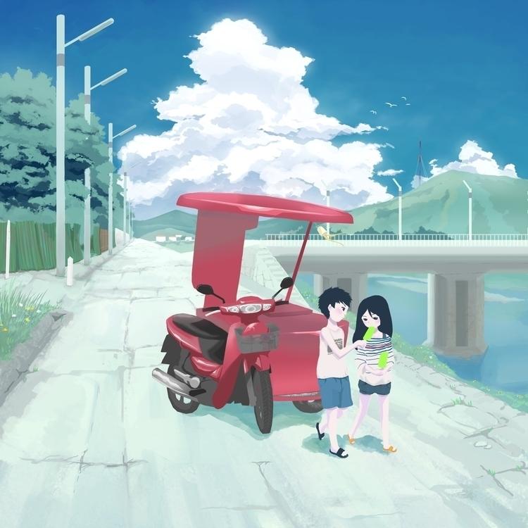 Summer Story 01 - illustration, collection - sasphere   ello