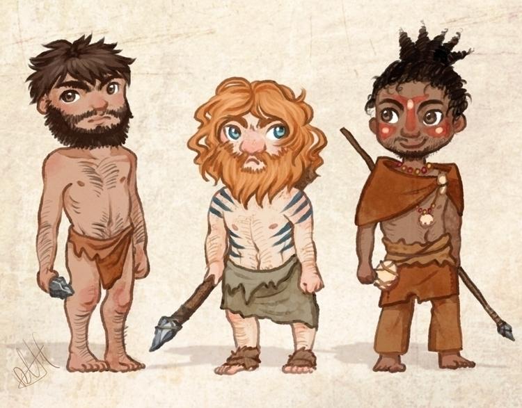 illustration, human, prehistory - melissadelteil   ello
