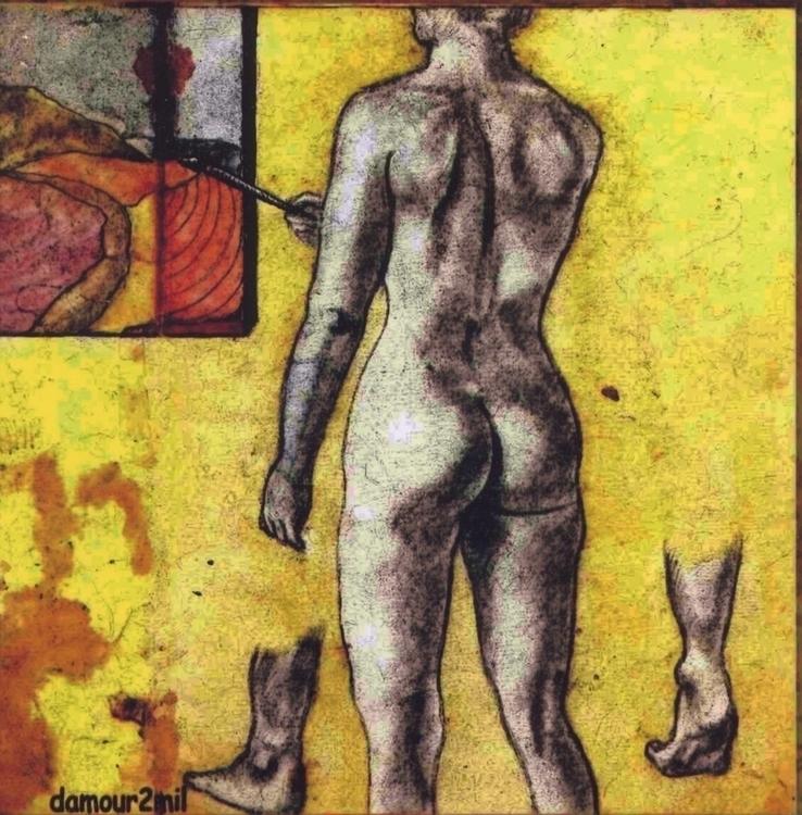 La femme peintre. Enluminure su - damour-2211 | ello