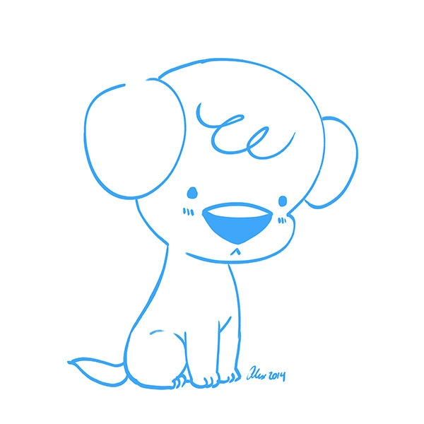 Lil Pup - pup, puppy, dog, cute - alexandrasketch | ello