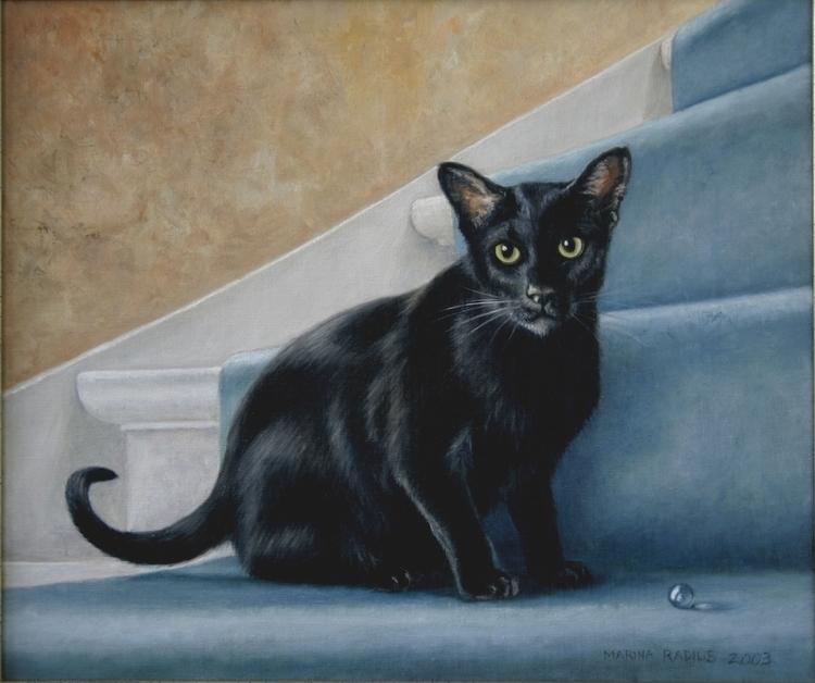 stairs, oil canvas, 35x40 cm - painting - marina-7013 | ello