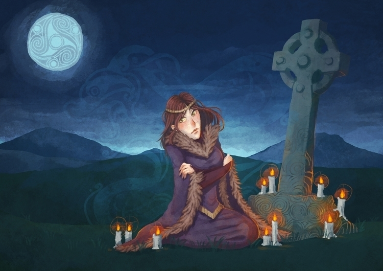 illustration, celtic, fantasy - melissadelteil | ello
