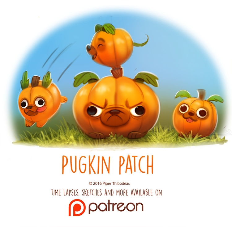 Day 1417. Pugkin Patch - piperthibodeau | ello