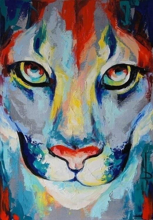 Puma 50-70 . oil canvas, palett - maridein | ello