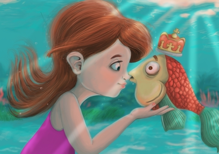 prince, fish, girl, crown - laisita19   ello