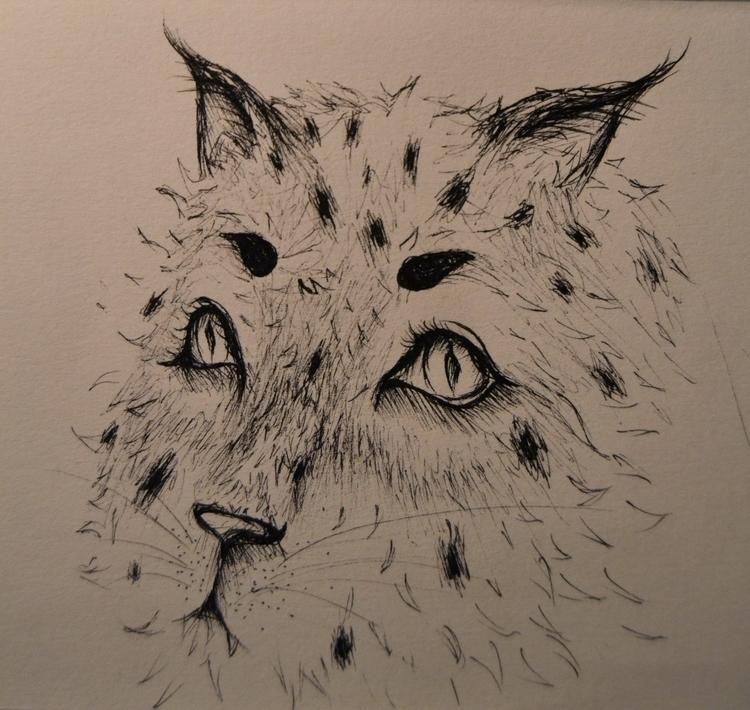 Late Night Sketch - pen, illustration - randomjess   ello