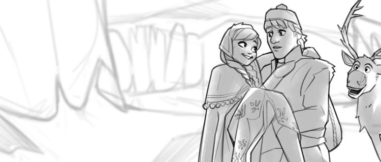 Frozen study - sketch, illustration - charlestan | ello
