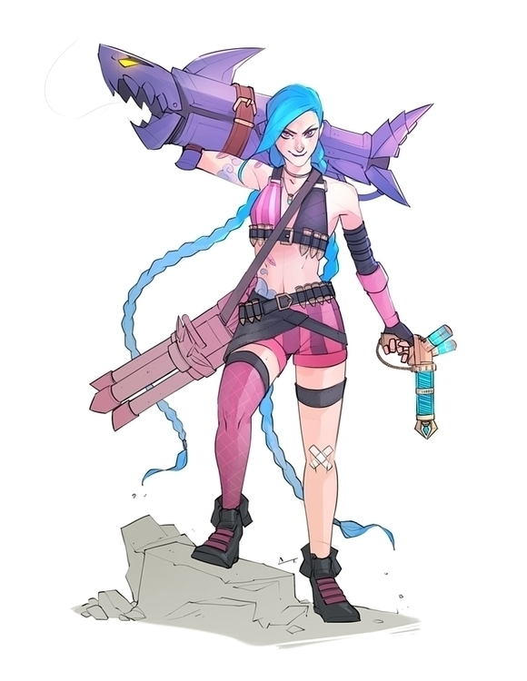 Jinx - sketch, illustration, fanart - charlestan | ello