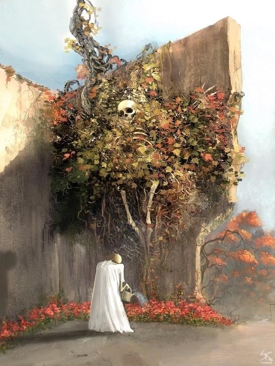 Title Garden fallen leaves gard - sanskarans | ello
