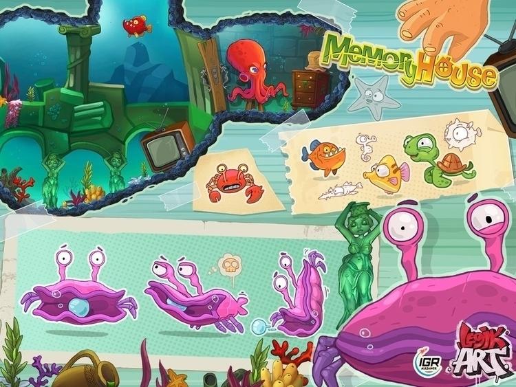 Memory House5 - gameart, conceptart - legik | ello