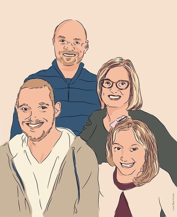 Portrait Family - portrait, illustration - liora-1444 | ello