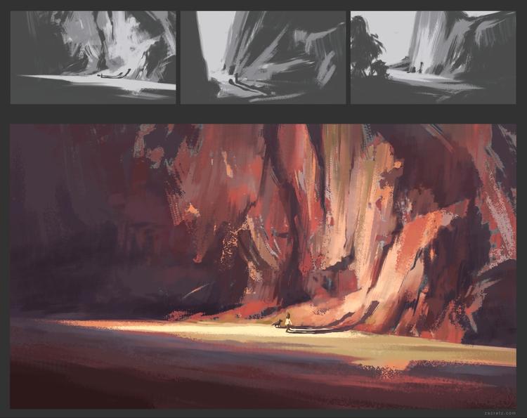 landscape practice. ?#?apaintin - zacretz | ello