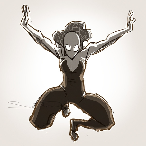 spider-gwen, fanart - samanthadoodles | ello