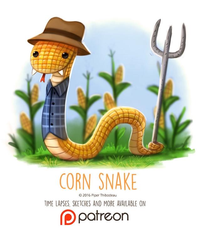 Day 1419. Corn Snake - piperthibodeau | ello