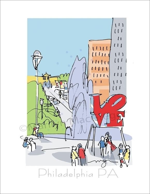 LOVE Park, Philadelphia - art p - macgregorart | ello